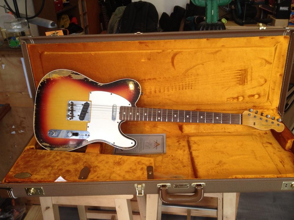 Guitariste Fender Telecaster 1965